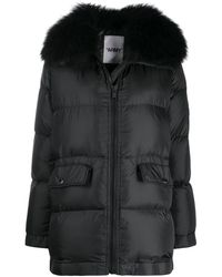 Army by Yves Salomon Quilted Puffer Coat - Black