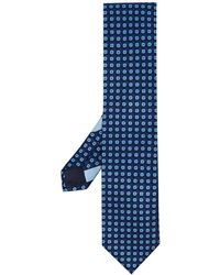 Ermenegildo Zegna Cravatta con stampa - Blu