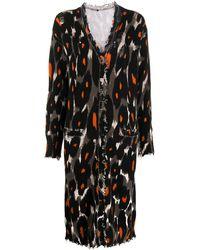 R13 Leopard-print Longline Cardigan - Black