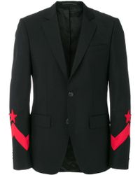 Givenchy - Embroidered Sleeve Blazer - Lyst