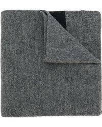 OAMC Logo Knitted Scarf - Gray