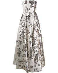 Talbot Runhof ストラップレス ドレス - グレー