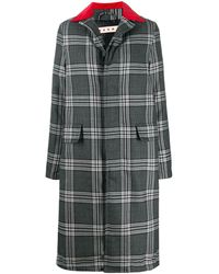 Marni Multi-print Button-up Long Coat - Grey