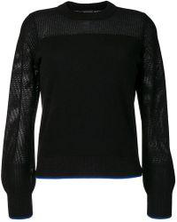 Rag & Bone Jersey con cuello redondo - Negro
