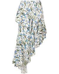 Vivetta - Asymmetric Ruffle Trim Skirt - Lyst