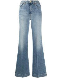 7 For All Mankind Modern Dojo High-waist Flared Jeans - Blue