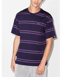 WTAPS T-Shirt mit breiten Streifen - Lila