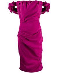 Maison Margiela Off-the-shoulder Dress - Pink