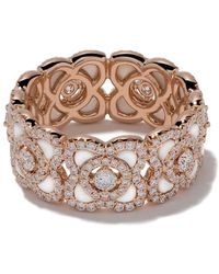 De Beers 18kt Rose Gold Enchanted Lotus Mother-of-pearl And Diamond Band - Металлик