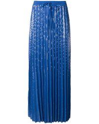 P.A.R.O.S.H. - Long Pleated Skirt - Lyst