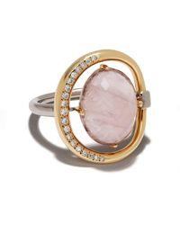 Charlotte Chesnais Project Special Surmesure ジェムストーン&ダイヤモンド リング 18kローズゴールド - ピンク