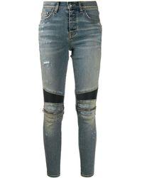 Amiri Jeans skinny con zip - Blu