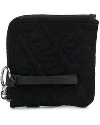 House of Holland Embroidered Logo Wallet - Black