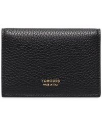 Tom Ford Бумажник Из Зернистой Кожи - Черный