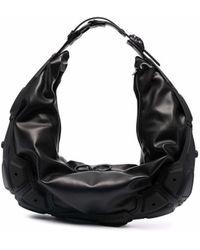 Innerraum Bolso de hombro fruncido - Negro