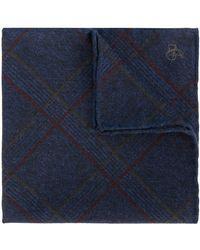 Canali - Checked Handkerchief - Lyst