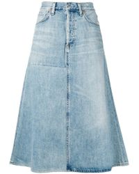Citizens of Humanity - Denim A-line Skirt - Lyst