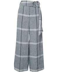 SUNO Plaid Cropped Pants