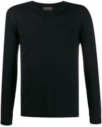 Dell'Oglio Colour Block Sweater - Blue