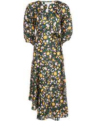 Apiece Apart Robe Sierra Ester à fleurs - Vert