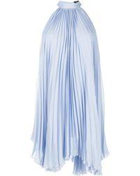 Styland Плиссированное Платье С Вырезом Халтер - Синий