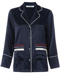 10 Crosby Derek Lam Pyjama Blouse - Blue