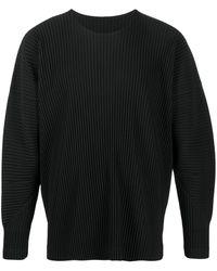 Homme Plissé Issey Miyake - Plissé-effect スウェットシャツ - Lyst
