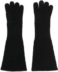 Totême ロング ニット手袋 - ブラック