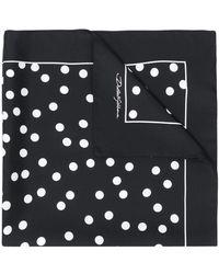 Dolce & Gabbana Sjaal Met Stippen - Zwart