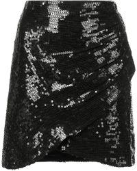 Alice + Olivia - Sequin Wrap Mini Skirt - Lyst