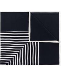 Totême モノグラム シルクスカーフ - ブルー