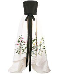 Oscar de la Renta - Robe mit botanischer Stickerei - Lyst