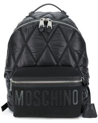 Moschino - Large Quilted Logo Backpack - Lyst