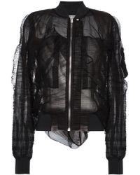 Rick Owens - Silk Organza Bomber Jacket - Lyst