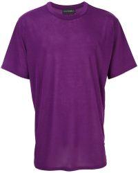 Yuiki Shimoji - T-shirt A Girocollo - Lyst