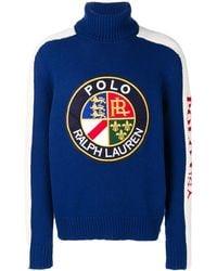 Polo Ralph Lauren Jersey con parche del logo - Azul