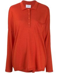 Snobby Sheep Long Sleeved Knitted Top - Orange