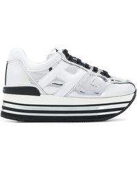 Hogan Sneakers im Metallic-Look - Weiß