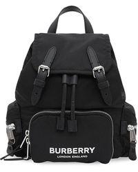 Burberry Rugzak Met Logoprint - Blauw