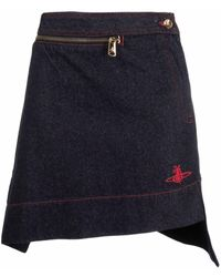 Vivienne Westwood デニムスカート - ブルー