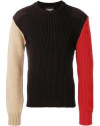 CALVIN KLEIN 205W39NYC カラーブロック セーター - ブラック
