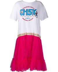 Viktor & Rolf - Платье-футболка Из Тюля С Оборками - Lyst