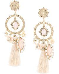 Marchesa notte Hoop and tassel earrings - Multicolore