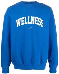 Sporty & Rich Sudadera con estampado Wellness - Azul