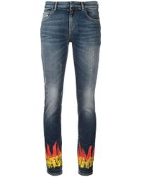Faith Connexion - Flame Print Skinny Jeans - Lyst