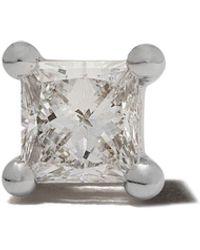 Delfina Delettrez Orecchino a bottone Dots in oro bianco 18kt con diamante - Metallizzato