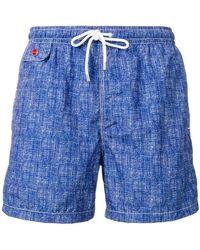 Kiton - Drawstring Waist Swim Shorts - Lyst