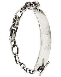 Henson - Carved Id Bracelet - Lyst