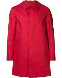 Mackintosh Короткое Пальто 'gr-002' - Красный