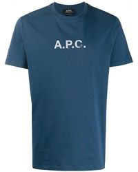 A.P.C. - ロゴ Tシャツ - Lyst